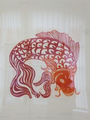 la carpe Koi 50x60 cm