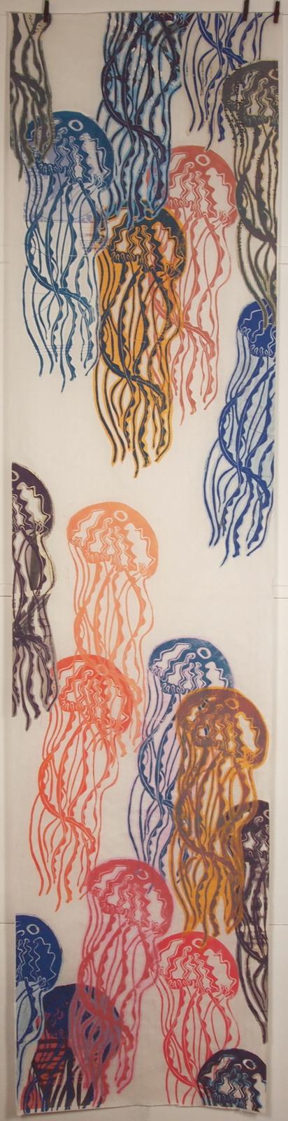 les méduses 35x200cm papier wenzhou- impressions et collages -non disponible - juin 2011